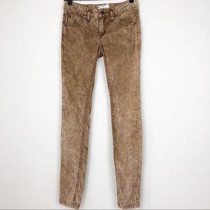 Free People Brown Skinny Corduroy Pants